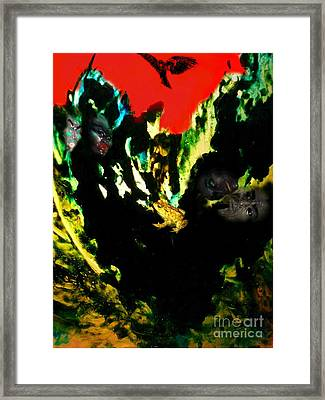 Framed Print featuring the mixed media Witches' Sabbath by Steed Edwards