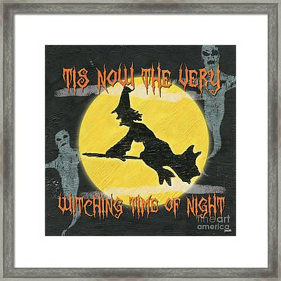 Witching Time Framed Print by Debbie DeWitt