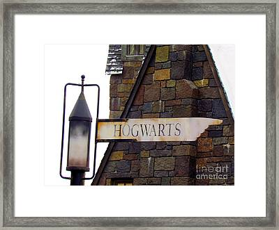 Witch's And Wizard's Way To Hogwarts Framed Print by Elizabeth Dow