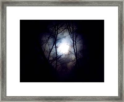 Witch's Moon Framed Print by Wild Thing