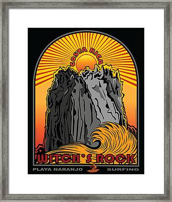 Witch's Rock Costa Rica Surfing Framed Print