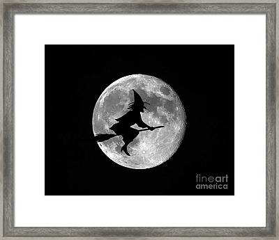 Witchy Moon Framed Print
