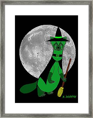 Witchy Moon Framed Print by Brian Dearth