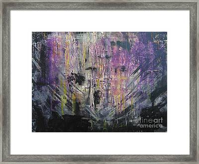 With A Chance Of Thunderstorms Framed Print by Lucy Matta