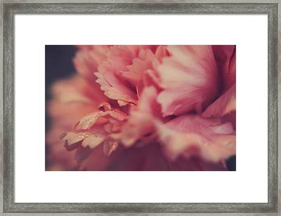 With A Fluttering Heart Framed Print by Laurie Search