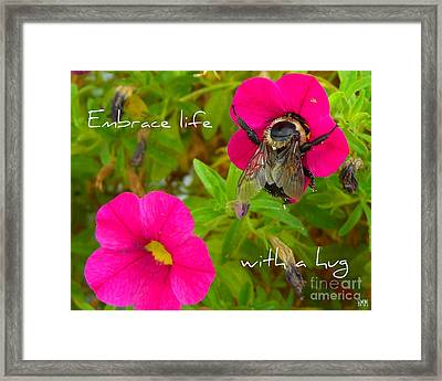 Framed Print featuring the photograph With A Hug by Heidi Manly