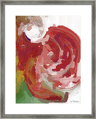 With A Swirl Of Skirt Framed Print by Roy Erickson