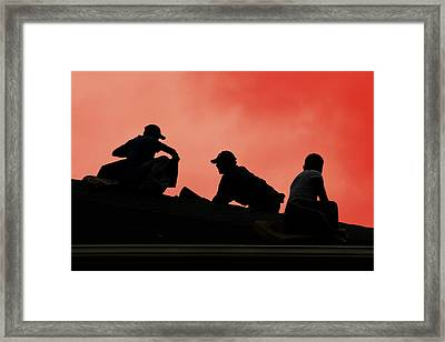 With All Your Heart Framed Print