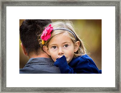 With Dad - Color Framed Print by Bill Pevlor