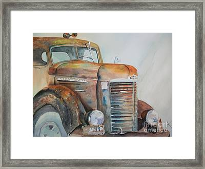 With Deluxe Horn Framed Print
