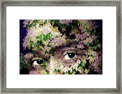 With Dogwood Framed Print