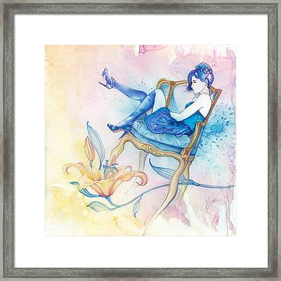 With Head In The Clouds Framed Print by Anna Ewa Miarczynska