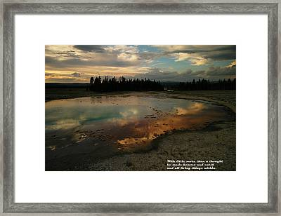 With Little More Framed Print by Jeff Swan