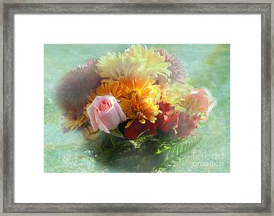 With Love Flower Bouquet Framed Print