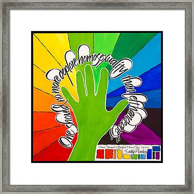 With Love From A Leftie Framed Print