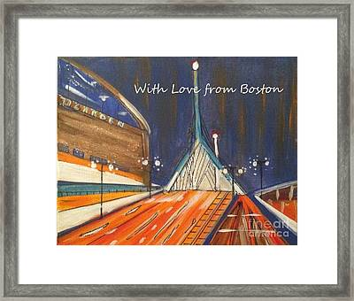 With Love From Boston Framed Print