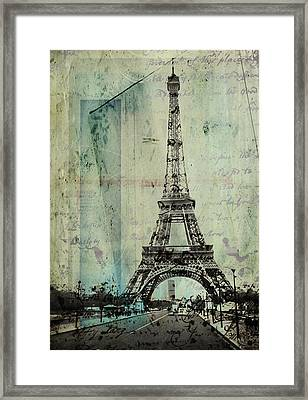 With Love From Paris  Framed Print by Steven  Taylor