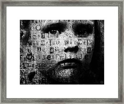 With No Language Framed Print by Gun Legler