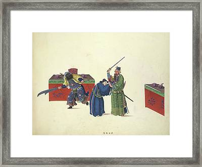 With Only Himself Armed Framed Print by British Library