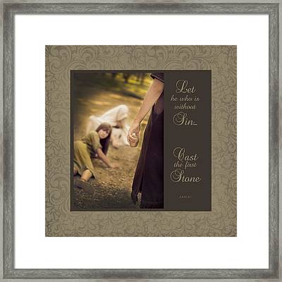 With Out Sin  Framed Print
