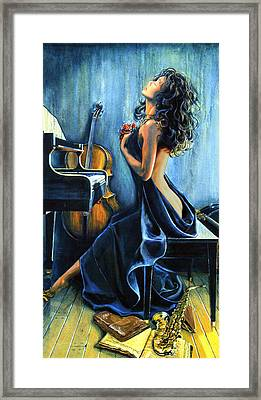 With Passion Iphone Case Framed Print