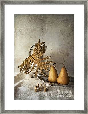 With Pears Framed Print