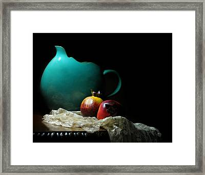 With Pomegranate Framed Print by Diana Angstadt
