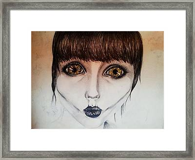 With Spinels Encasing Your Organs. Framed Print by Stephanie Bridge