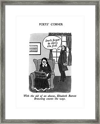 With The Aid Of An Abacus Framed Print