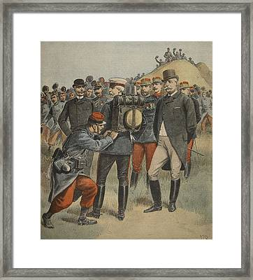 With The Army Manoeuvres The Duke Framed Print