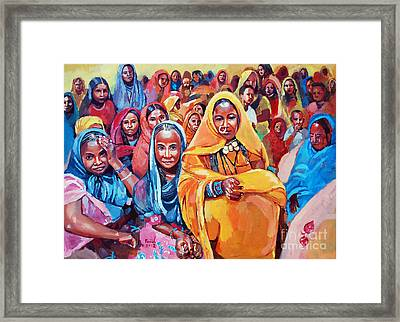 With The Bride Framed Print