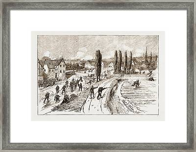 With The Eleventh Army Corps, Near Homburg The Capture Framed Print