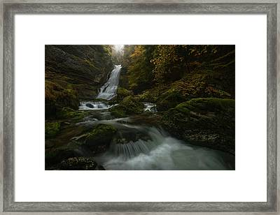 With The Flaming Shades Of Fall Framed Print