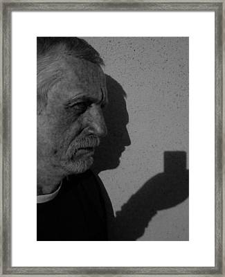 With The Shadow Of Our Past Framed Print