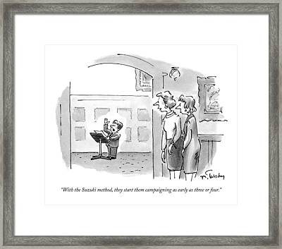 With The Suzuki Method Framed Print by Mike Twohy