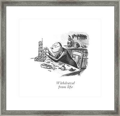 Withdrawal From Life Framed Print by William Steig