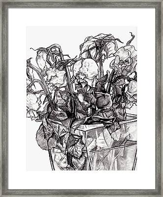 Withering Roses 2012 Framed Print by Blake Grigorian