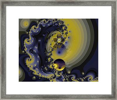 Within A Wave Framed Print by Elizabeth McTaggart