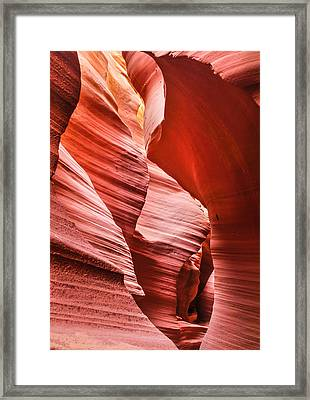 Within The Canyon Walls Framed Print