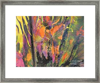 Framed Print featuring the painting Within The Forest by Lyn Olsen
