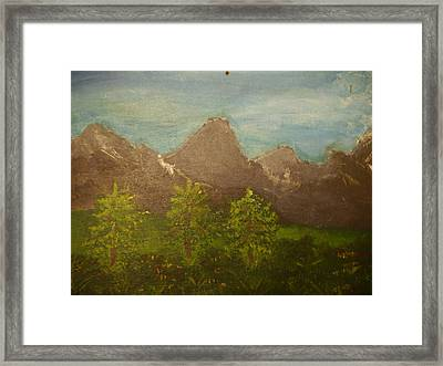 Within The Mountains Framed Print by Joshua Massenburg