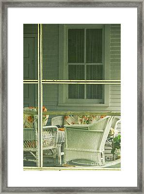 Within The Screened Porch Framed Print