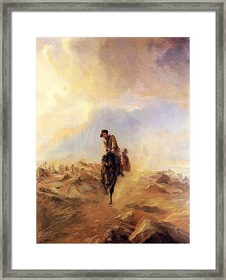 Within The Sounds Of The Guns Framed Print by Elizabeth Thompson
