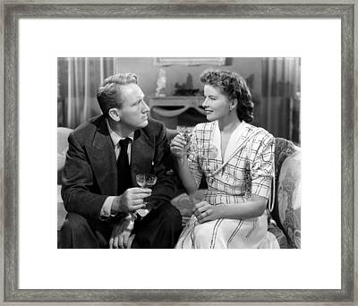 Without Love, From Left, Spencer Tracy Framed Print