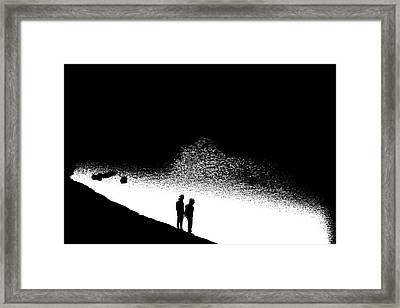 Without Framed Print by Nick David