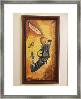 Without Wings Framed Print by Carlos Rodriguez Yorde