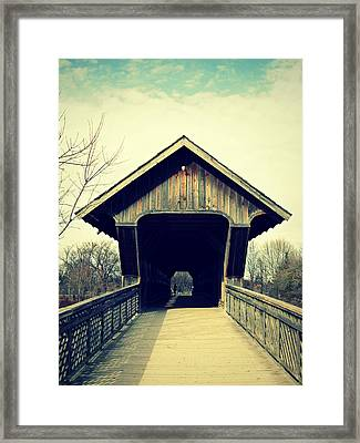 Witihn The Bridge Framed Print by Cyryn Fyrcyd