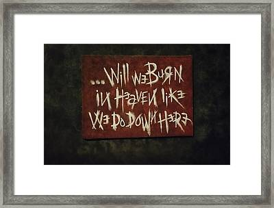 Witness Framed Print by Casey Kimmons