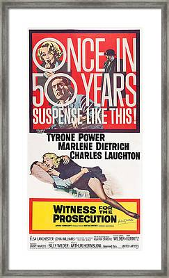Witness For The Prosecution, Us Poster Framed Print by Everett