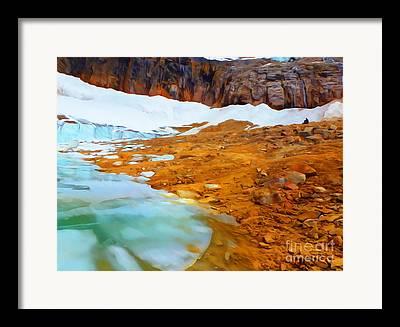 Drifting Snow Mixed Media Framed Prints